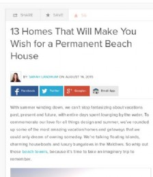 13 Homes That Will Make You Wish for a Permanent Beach House