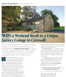 WIN a Weekend Break in a Unique, Luxury Cottage in Cornwall