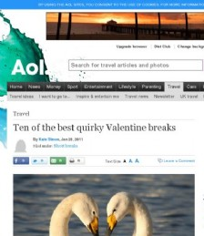 Ten of the best quirky Valentine breaks