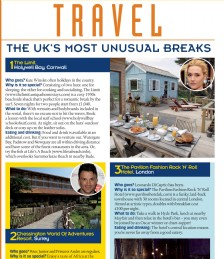 Travel- The UK´s Most Unusual Breaks