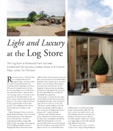 Light and Luxury at The Log Store