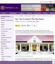 Say I do in style at The Vine House