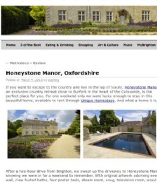 A Visit to Honeystone Manor