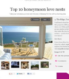 Top 10 Honeymoon Love Nests