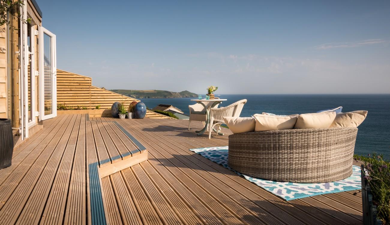 Luxury Beach Hut Freathy Cliff Whitsand Bay Cliff Top