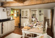 The open plan kitchen-dining area