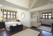 The master suite sits alone on the third floor and has its own sitting area