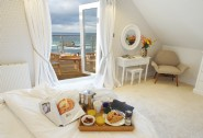 Master king-size bedroom with private deck