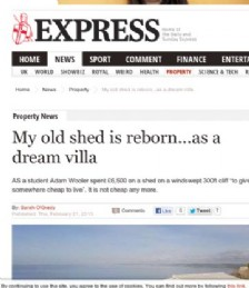My old shed is reborn...as a dream villa