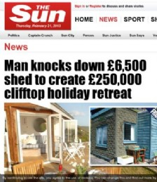 Man Knocks Down Shed to Create Luxury Clifftop Holiday Retreat
